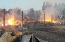 Incendiu puternic la o fermă din Radu Negru. Pompierii au stins focul după 7 ore!