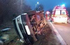 Bărbat de 39 de ani, rănit într-un accident rutier produs la Vărăști