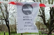 Parcurile din Călărași au fost închise