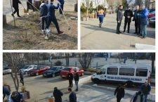 Înaintea sferturilor de finală din Cupa României, echipa de futsal a ieșit la curățenie
