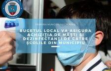 Primăria Călărași va achiziționa măști de protecție și dezinfectanți pentru școlile din municipiu