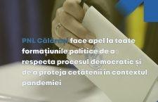 PNL Călărași: Facem un apel către toate formațiunile politice din Călărași de a respecta procesul democratic și de a proteja cetățenii în contextul pandemiei